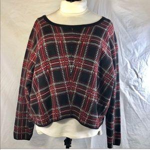 Torrid Sz 2 red plaid sweater
